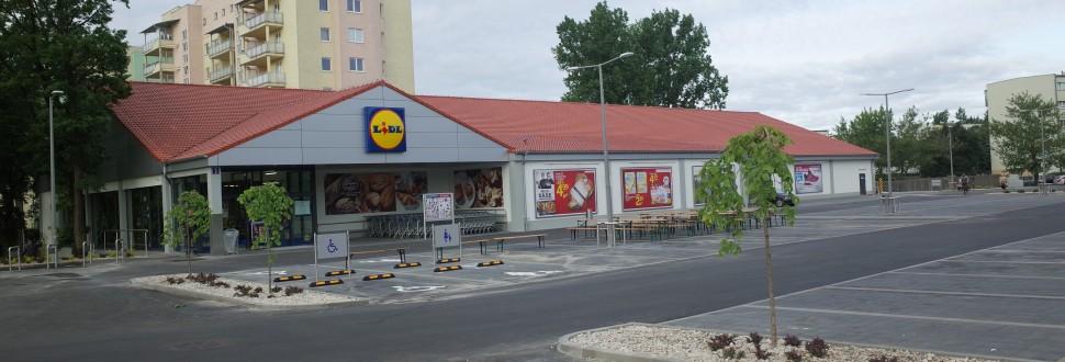 Lidl Łódź ul.Wici wraz z parkingami