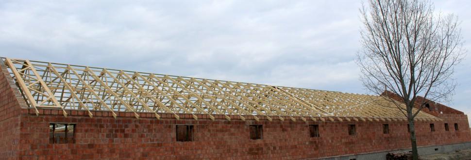 Konstrukcja dachu chlewni w m. Kamocinek