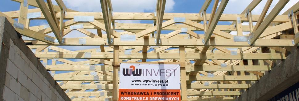 Konstrukcja dachu budynku w m. Rzgów
