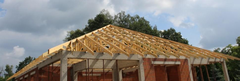 Konstrukcja dachu kopertowego w miejsc. Ksawerów