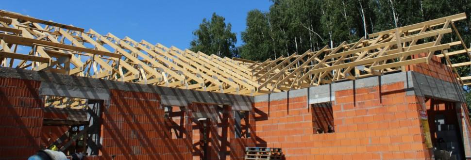 Konstrukcja dachu budynku w miejsc. Brużyczka Księstwo