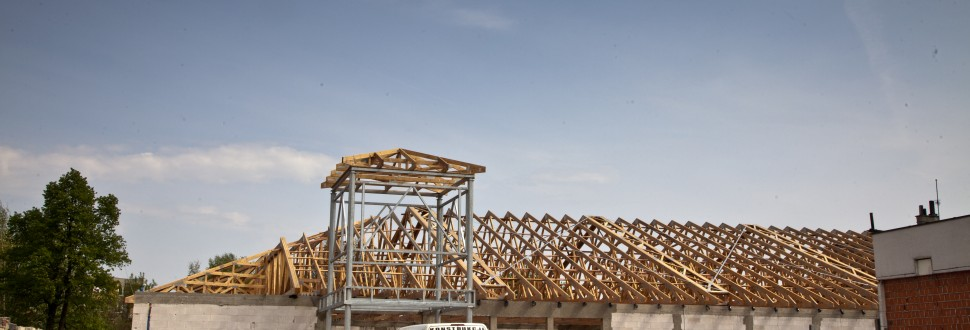 Konstrukcja dachu Netto w Zduńskiej Woli