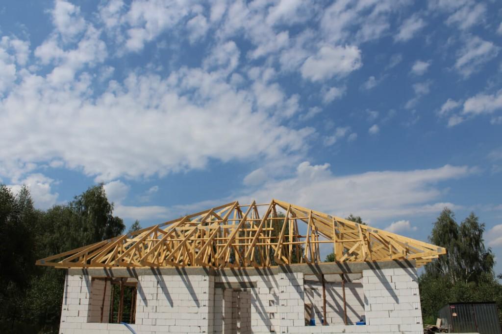 Dach drewniany na budynku mieszkalnym